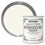 Rust-Oleum Antique white Chalky effect Matt Furniture paint, 0.13L