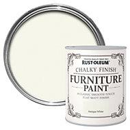 Rust-Oleum Antique white Chalky Matt Furniture paint 125 ml