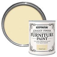 Rust-Oleum Clotted cream Chalky effect Matt Furniture paint, 0.75L