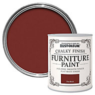 Rust-Oleum Fire brick Matt Furniture paint, 0.13L