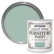 Rust-Oleum Duck egg Chalky effect Matt Furniture paint, 0.75L
