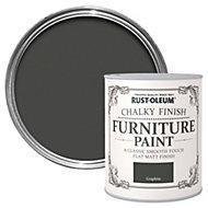 Rust-Oleum Graphite Chalky Matt Furniture paint 750 ml
