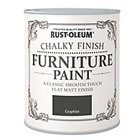 Rust-Oleum Graphite Chalky effect Matt Furniture paint, 0.75L