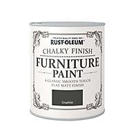 Rust-Oleum Graphite Chalky effect Matt Furniture paint, 0.13L