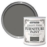 Rust-Oleum Anthracite Chalky effect Matt Furniture paint, 0.13L