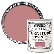 Rust-Oleum Dusky pink Chalky effect Matt Furniture paint, 0.75L