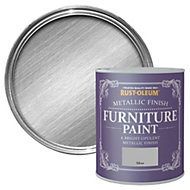Rust-Oleum Silver Metallic Metallic Furniture paint 750ml