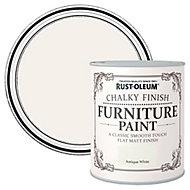 Rust-Oleum Antique white Flat matt Furniture paint, 2.5L