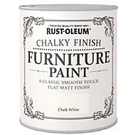 Rust-Oleum Chalk white Chalky effect Matt Furniture paint, 2.5L