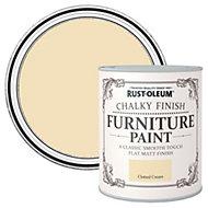 Rust-Oleum Clotted cream Flat Matt Furniture paint 2.5L