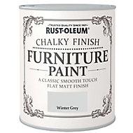 Rust-Oleum Winter grey Flat matt Furniture paint, 2.5L