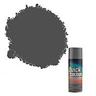 Rust-Oleum Quick colour Grey Gloss Multi-surface Spray paint, 400ml
