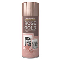 Rust-Oleum Rose gold effect Multi-surface Spray paint, 400ml