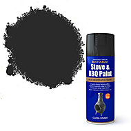 Rust-Oleum Stove & bbq Black Matt Multi-surface Spray paint, 400ml