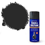 Rust-Oleum Stove & bbq Black Matt Spray paint 400 ml