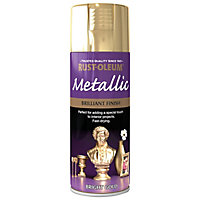 Rust-Oleum Bright gold effect Multi-surface Spray paint, 400ml