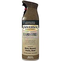 Rust-Oleum Universal Brown Hammered effect Multi-surface Spray paint, 400ml