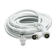 Smartwares Aerial fly lead White 10 m