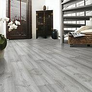 Eurohome Dartmoor Oak effect Laminate flooring, 1.48m² Pack