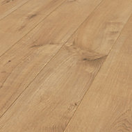 Ravensdale Natural Oak effect Laminate flooring, 1.48m² Pack