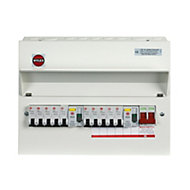 Wylex 100A 10 way High integrity dual RCD Consumer unit