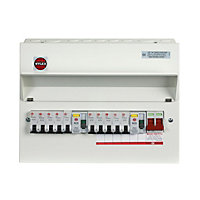 Wylex 100A 10 way High integrity dual RCD Consumer unit