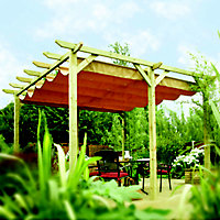 Rowlinson Verona Freestanding Taupe Canopy