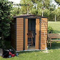 Arrow Woodvale 6x5 Apex Metal Shed - Assembly service included