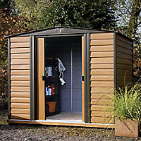 Arrow Woodvale 8x6 Apex Metal Shed - Assembly service included