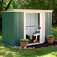Arrow Greenvale 8x4 Pent Metal Shed - Assembly service included