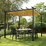 Rowlinson Latina Freestanding Gun metal grey & taupe Canopy With assembly service