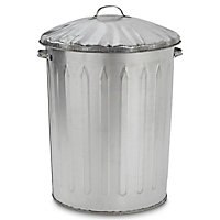 Parasene Silver Outdoor litter bin 90L