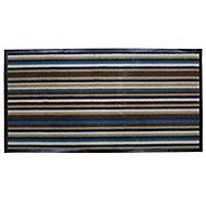 Colours Blue & brown Door mat