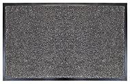 Grey Plain Polypropylene Door mat (L)800mm (W)500mm