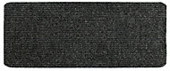 Dark grey Plain Mixed fibers Runner (L)1500mm (W)500mm