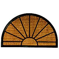 Primeur Sunrise Biscuit Coir Door mat (L)0.75m (W)0.45m