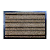 Primeur Stripe barrier Blue, beige & grey Polypropylene Door mat (L)1.2m (W)0.8m