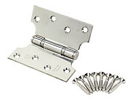 Smith & Locke Polished Grade 13 Parliament Fire door hinge, Pack of 2