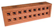 Expamet Red Air brick (L)215mm (W)50mm (H)65mm, Pack of 3