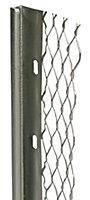 Galvanised steel Stop bead (L)2.4m (W)60mm