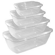 Thumbs Up Clip seal Clear Food storage set, Set of 4