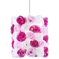 Posy Pink & white Floral Light shade (D)230mm