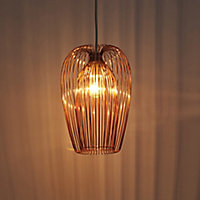 Jonas Copper effect Wire Light shade (D)220mm