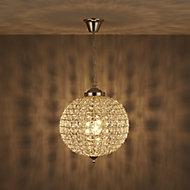 Freya Pendant Nickel effect Ceiling light