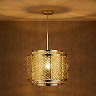 Myla Gold effect Pendant Ceiling light