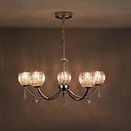 Pixie Chrome effect 5 Lamp Pendant Ceiling light