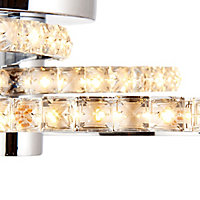 Aura Brushed Chrome effect 3 Lamp Ceiling light