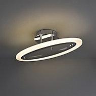 Izarra Brushed Chrome effect Ceiling light