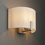 Westbourne Matt Ivory Nickel effect Wall light