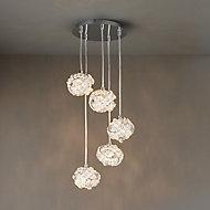 Emelia Chrome effect 5 Lamp Pendant Ceiling light